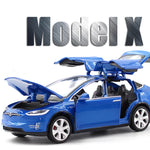 New 1:32 Tesla MODEL X Alloy Car Model Diecasts & Toy Vehicles Toy Cars Free Shipping Kid Toys For Children Gifts Boy Toy - go-sale-now