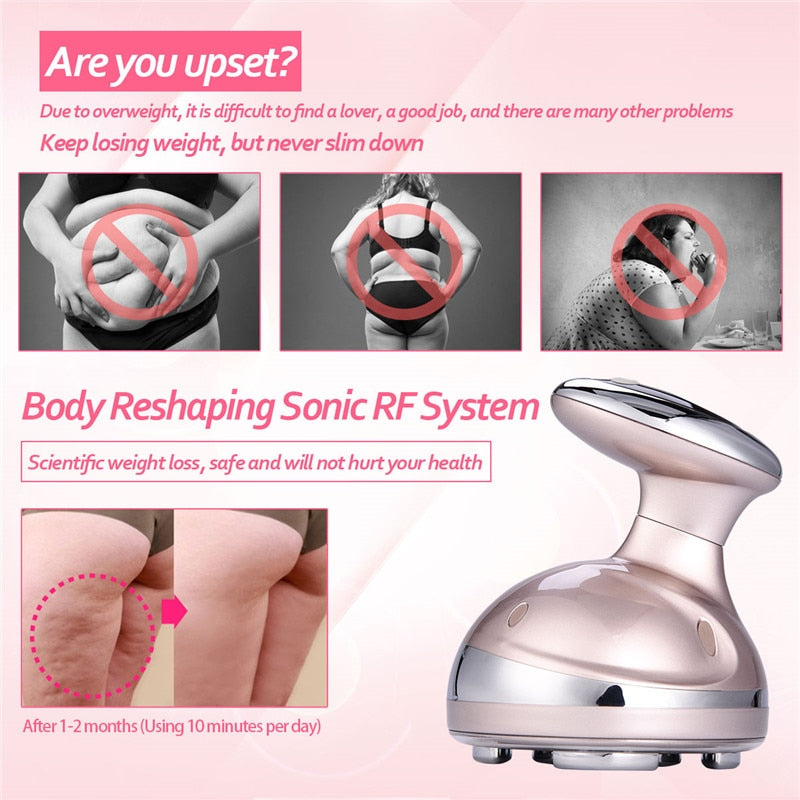 RF Cavitation Ultrasonic Slimming Massager LED Fat Burner Anti Cellulite Lipo Device Skin Tightening Weight Loss Beauty Machine - go-sale-now