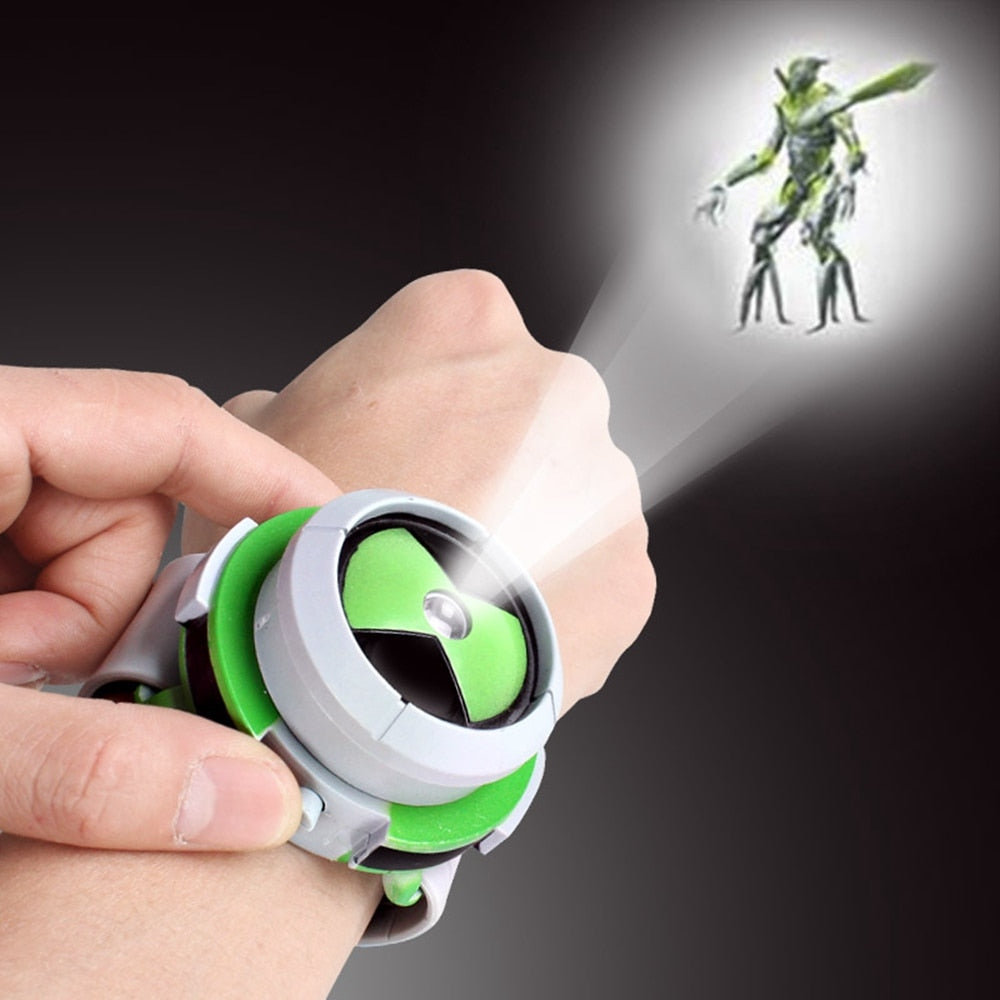 2018 Hot Selling Ben 10 Style Japan Projector Watch Ban Dai Genuine Toys For Kids Children Slide Show Watchband Drop - go-sale-now