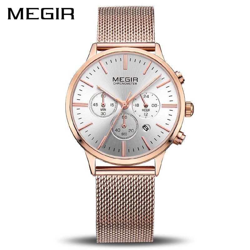 MEGIR Brand Luxury Women Watches Fashion Quartz Ladies Watch Sport Relogio Feminino Clock Wristwatch for Lovers Girl Friend 2011 - go-sale-now