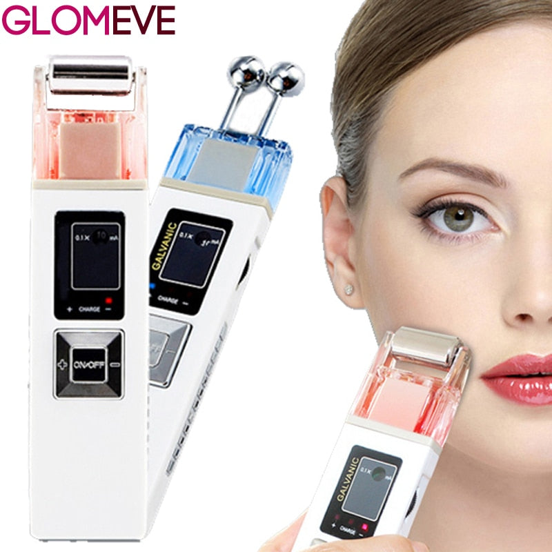Galvanic Microcurrent Skin Firming Whiting Machine Iontophoresis Anti-aging Massager Skin Care SPA Salon Beauty - go-sale-now