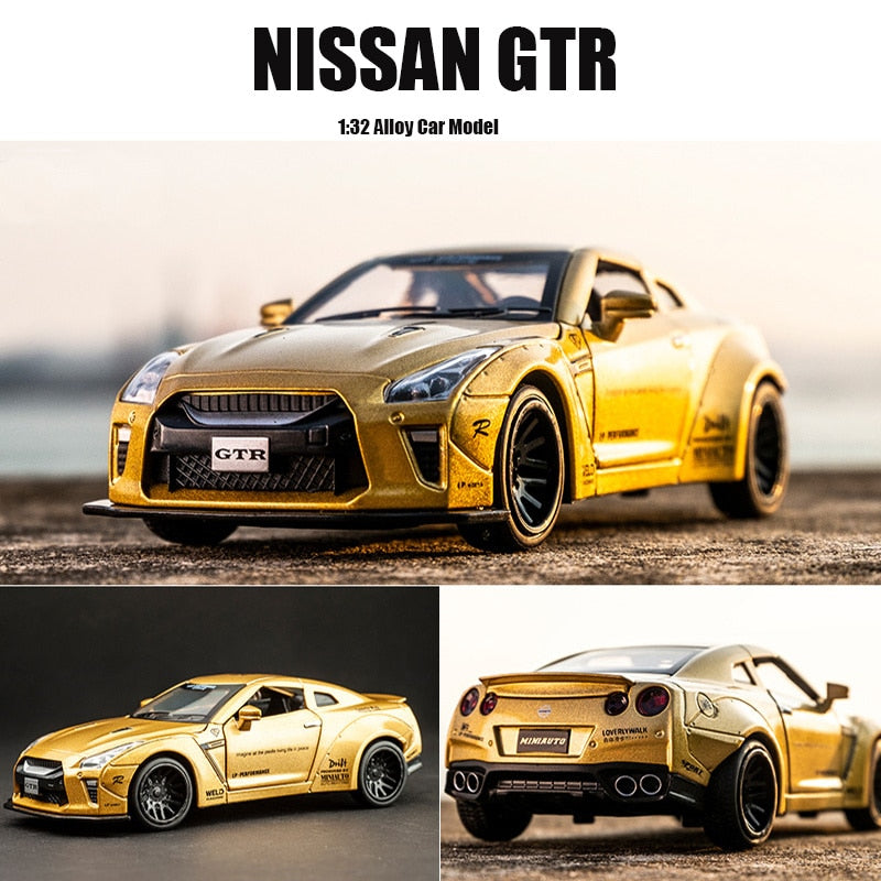 New 1:32 NISSAN GTR Race Alloy Car Model Diecasts & Toy Vehicles Toy Cars Free Shipping Kid Toys For Children Gifts Boy Toy - go-sale-now
