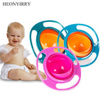 Creative Baby Feeding Learning Dishes Bowl High Quality Assist Toddler Baby Food Dinnerware For Kids Eating Training Gyro Bowl - go-sale-now