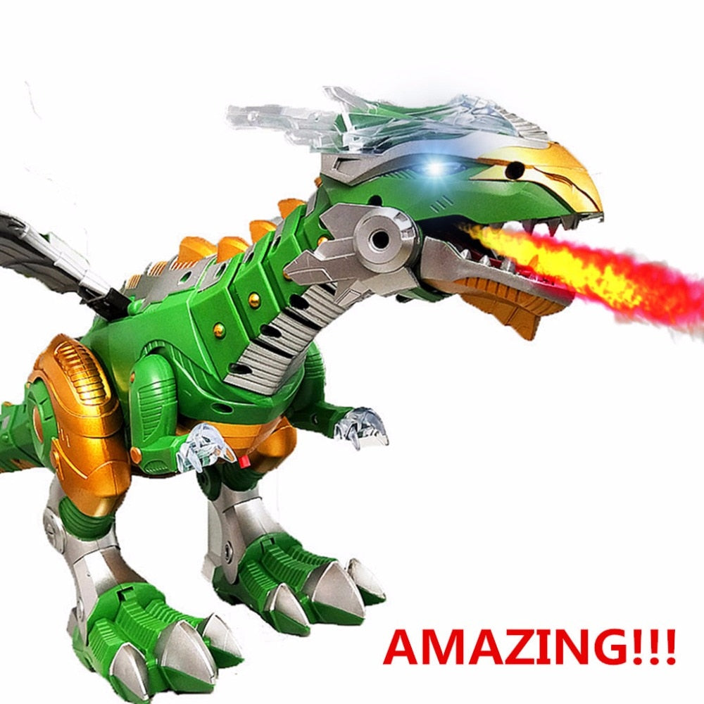 Shocking Electric Interactive Spray Dinosaurs Toys Talking Walking Fire Dragon Boy Kids Toy Christmas Gift Fine Electronic Pets - go-sale-now