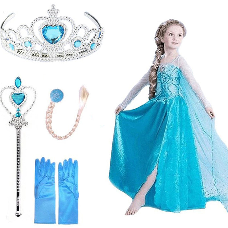 Kids Dresses For Girls Elsa Dress Snow Queen Cosplay Princess Anna Elsa Costumes Kids Party Fantasia Vestidos Girls Clothing - go-sale-now