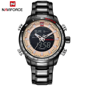 NAVIFORCE Top Brand Men Military Sport Watches Mens LED Analog Digital Watch Male Army Stainless Quartz Clock Relogio Masculino - go-sale-now