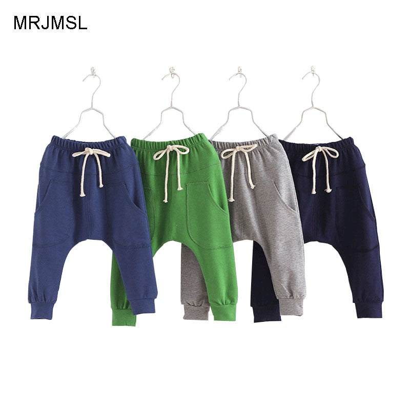 MRJMSL Hot selling 2019 Boys pants Kids Spring Autum Clothes children pants for baby boys trousers girls harem pants 90~130 - go-sale-now