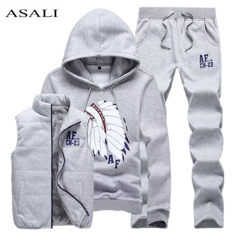 Design custom xxxxl hoodies Sweatshirt Men Hoodies men tracksuit jacket vest pants men clothing set sportsuit joggers men MS001 - go-sale-now
