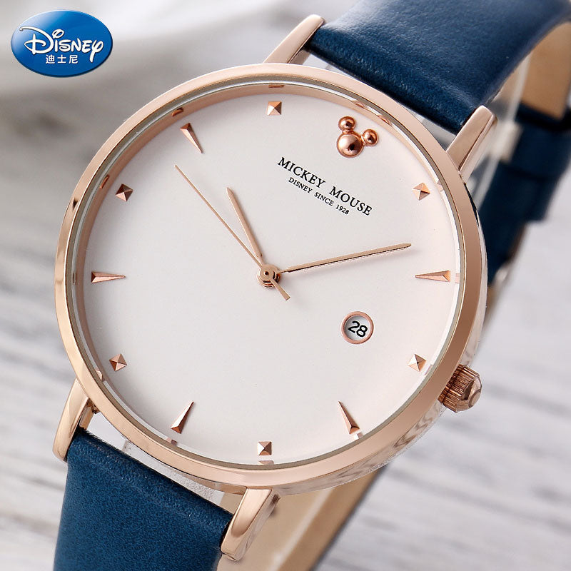 DISNEY Brand Watches For Women Fashion Casual Women Leather Quartz Watch Dress Ladies Wristwatch Female Clock Relogio Feminino - go-sale-now
