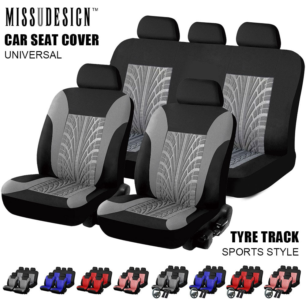 Universal Fashion Styling Full set and 2 front seats Car Seat Protector Auto Interior Accessories Automobile Car Seat Cover