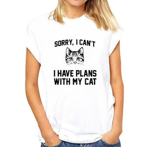 cat looking out side Print Women tshirt Cotton Casual Funny t shirt For Lady Girl Top Tee Hipster Tumblr Drop Ship WCT001 - go-sale-now