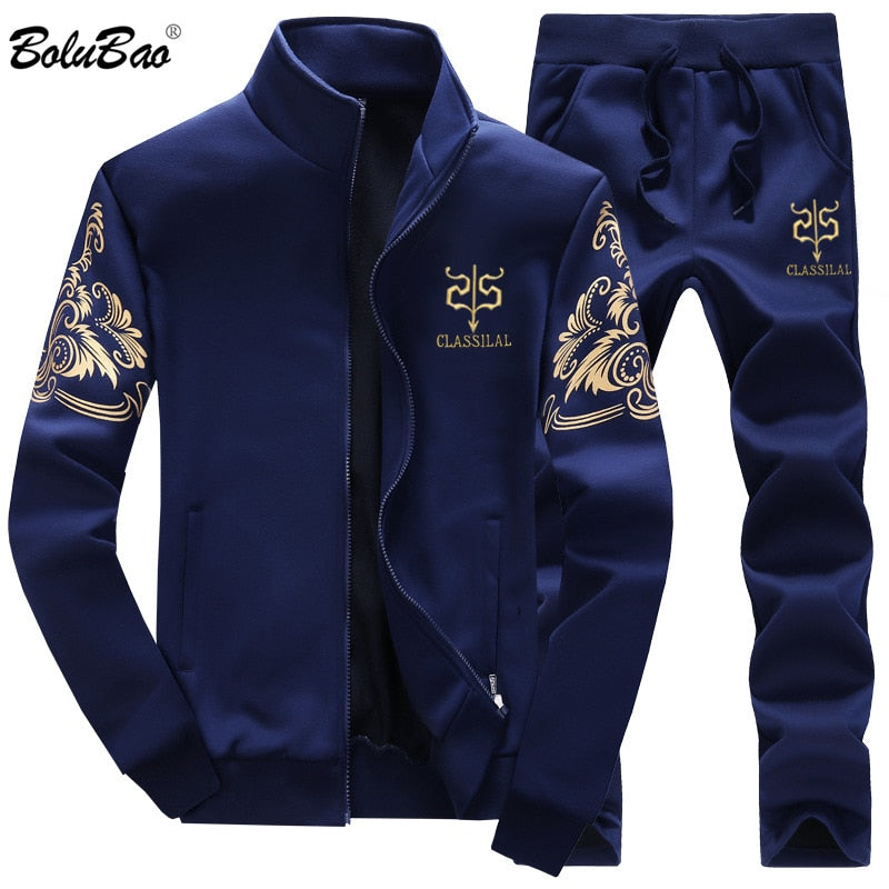BOLUBAO Men Set 2PC Zipper Autumn Male Casual Tracksuit Men's Sets Male Sweatshirt Jacket + Pants 2 Piece Set Male - go-sale-now