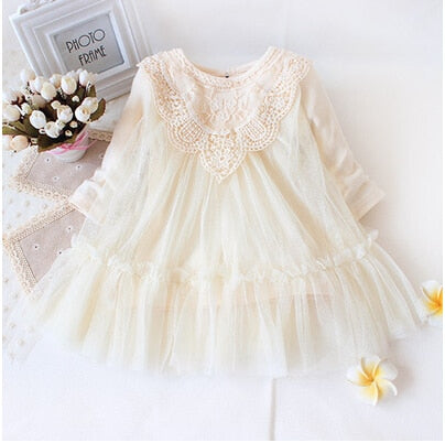 Retail! New 2019 brand newborn baby girls dress full of lace baby party dress infant babywear kids children baby clothing - go-sale-now