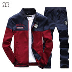 Brand New Men Sets Fashion Autumn Spring Sporting Suit Zipper Sweatshirt + Sweatpants Mens Clothing 2 Pieces Sets Slim Tracksuit - go-sale-now