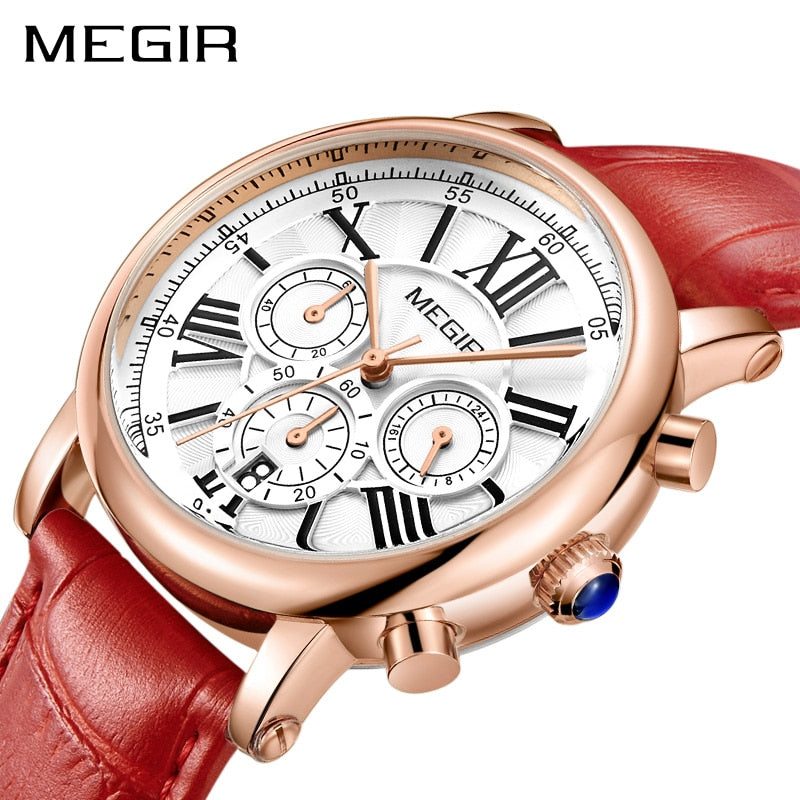 MEGIR Fashion Women Bracelet Watches Top Brand Luxury Ladies Quartz Watch Clock for Lovers Relogio Feminino Sport Wristwatches - go-sale-now