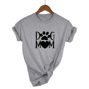 Dog mom paw Letters harajuku Print Women tshirt Cotton Casual Funny t shirt For Lady Girl Top Tee Hipster Drop Ship - go-sale-now