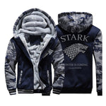 Game of Thrones House Stark Fashion Hoodies Mens Jackets 2019 Winter Warm Fleece High Quality Sweatshirts Men Thicken Men's Coat - go-sale-now