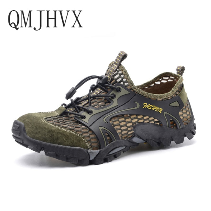Summer new men's outdoor tracking River shoes non-slip wear-resistant breathable quick-drying shoes men and women casual shoes - go-sale-now