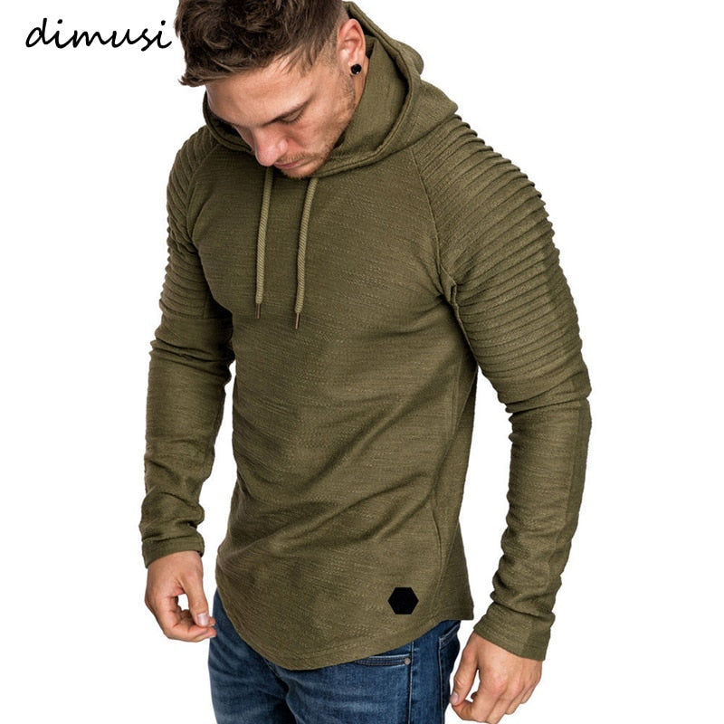 DIMUSI Brand Fashion Mens Hoodies Men Solid Color Hooded Slim Sweatshirt Mens Hoodie Hip Hop Hoodies Sportswear Tracksuit,TA301 - go-sale-now