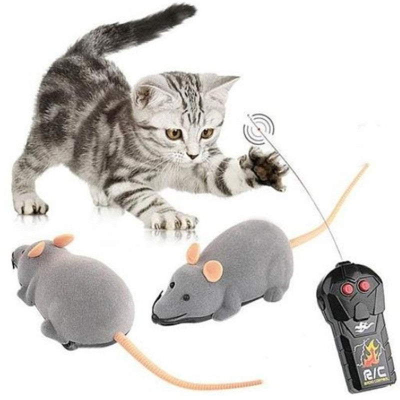 Funny RC Animals Wireless Remote Control RC Electronic Rat Mouse Mice Toy For Cat Puppy Kids Toy Gifts - go-sale-now