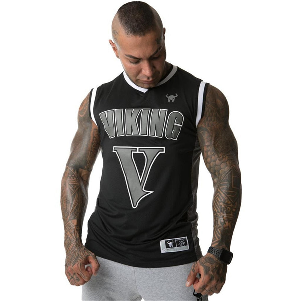 2019 summer mesh clothing Mens Tank Tops Stringer Bodybuilding Fitness absorb sweat breathe freely Men Tanks Clothes Singlets - go-sale-now