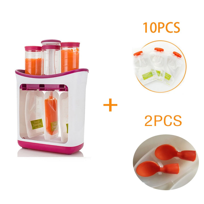 Dropshipping Baby Food Maker Squeeze Food Station Organic Food For Newborn Fresh Fruit Container Storage Baby Feeding Maker - go-sale-now