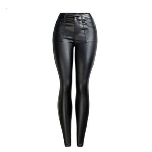 2019 Summer Winter White PU Leather Pants For Women Plus Size Pants Trousers Women High Waist Black Pencil Pants Pantalon Femme - go-sale-now