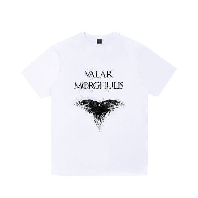 2019 Men's Game Of Thrones T Shirt House Stark Snow Arya NOT TODAY Printed Shirts Women Casual Tee Tops Plus Size Streetwear - go-sale-now