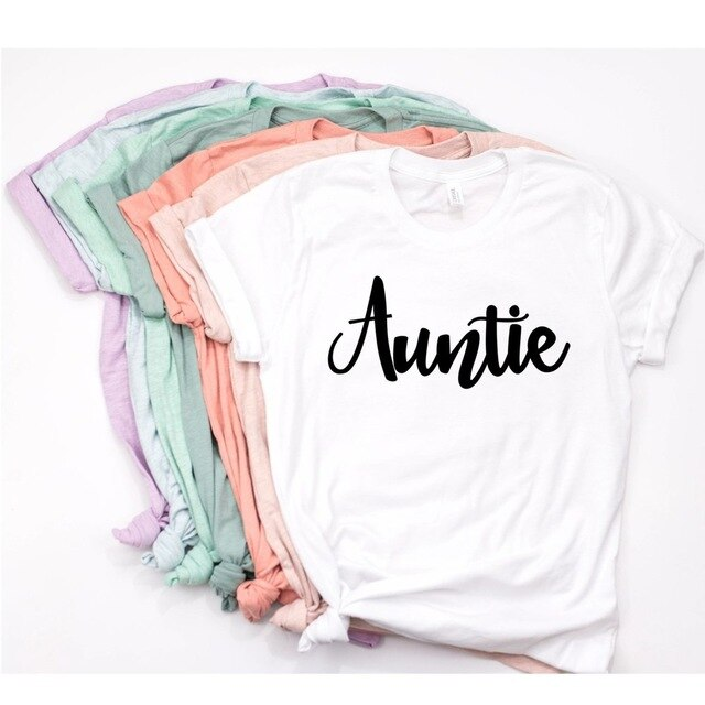 2019 Auntie Shirt  Women Blessed Auntie T-Shirt Casual Family Shirt  Auntie Squad Tee Shirt Tumblr Shirt - go-sale-now