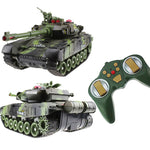 RC Tank Battle CrawlerTank Car Model Remote Control Tank Decor Remote Control Tank RC Cool toys Gifts for boys Kids children - go-sale-now