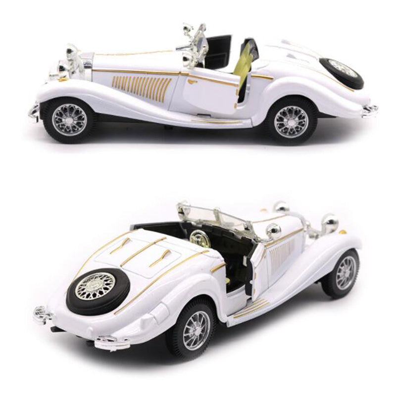 White Color 1:28 Scale 16.8CM Metal Alloy Diecasts 500K Classic Pull Back 1936 car model Vehicles Model Toys F Kids Collection - go-sale-now