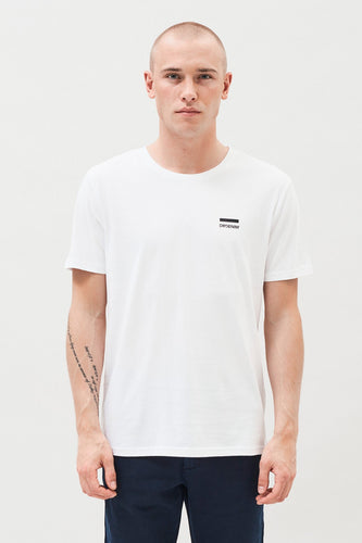 DR DENIM | Patrick T-Shirt | White Small Logo - LONDØNWORKS