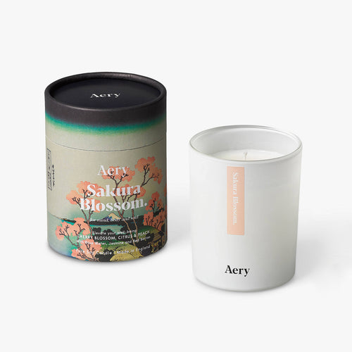 AERY | Sakura Blossoms Scented Candle | Cherry Citrus Peach - LONDØNWORKS