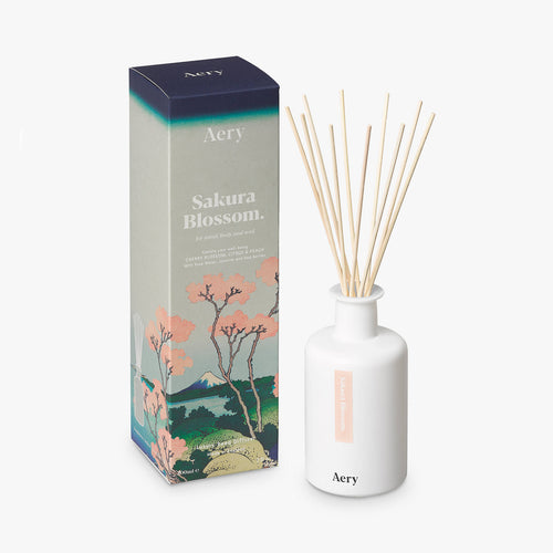 AERY | Sakura Blossoms Reed Diffuser | Cherry Citrus Peach - LONDØNWORKS