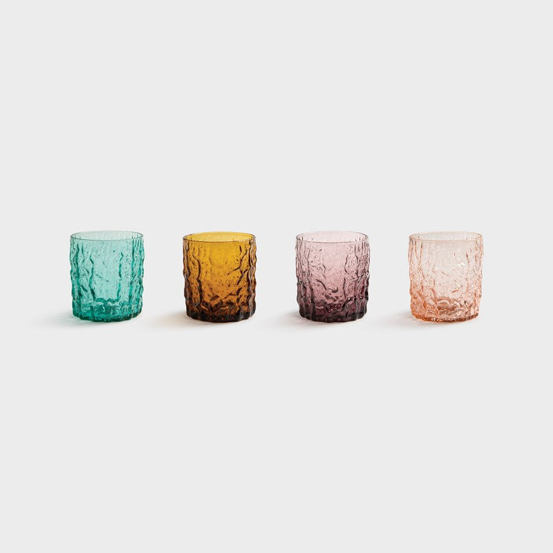 KLEVERING | Colourful Trunk Glasses Set of 4