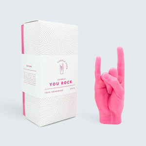 CANDLE HAND | You Rock | Pink - LONDØNWORKS
