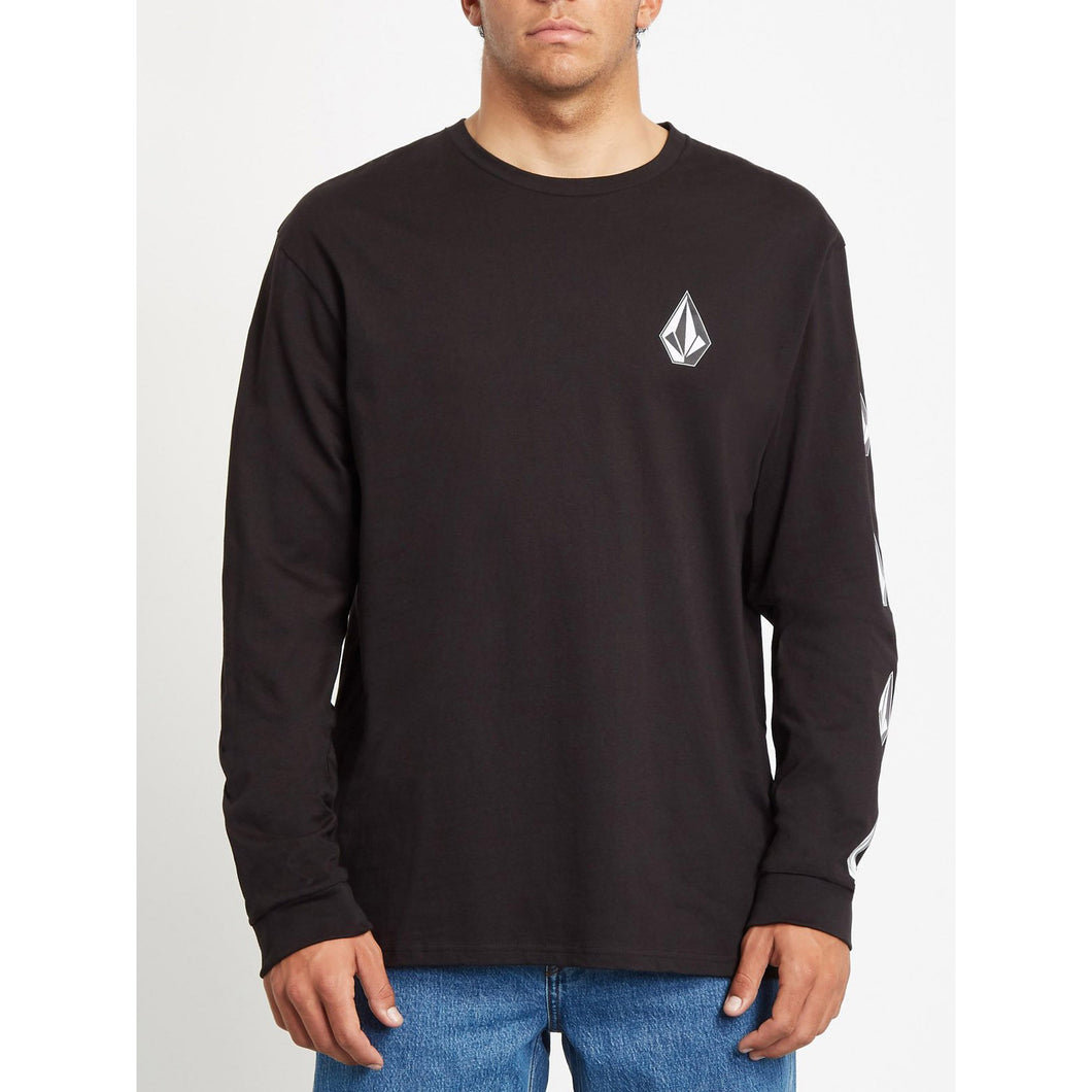 VOLCOM | Deadly Stone Long Sleeves T-Shirt | Black - LONDØNWORKS