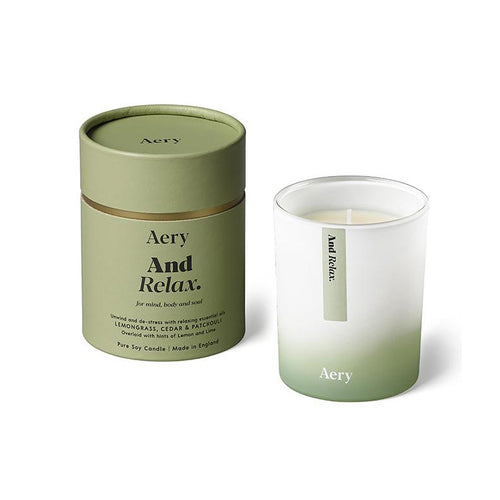 AERY | And Relax Scented Candle | Lemongrass Cedar Patchouli - LONDØNWORKS