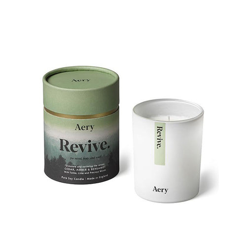 AERY | Revive Scented Candle | Cedar Amber Bergamot