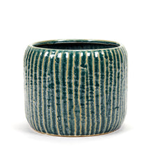 Load image into Gallery viewer, SERAX | Plant Pot Ribs Large | Blue - LONDØNWORKS