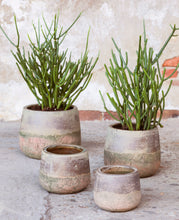 Load image into Gallery viewer, SERAX | Plant Pot Stonewash Round Large | Brown & Grey - LONDØNWORKS