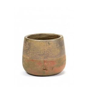 SERAX | Plant Pot Stonewash Round Medium | Brown & Grey - LONDØNWORKS