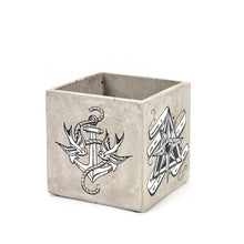 Load image into Gallery viewer, SERAX | Concrete Square Pot | Tattoo - LONDØNWORKS