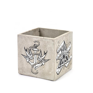 SERAX | Concrete Square Pot | Tattoo - LONDØNWORKS