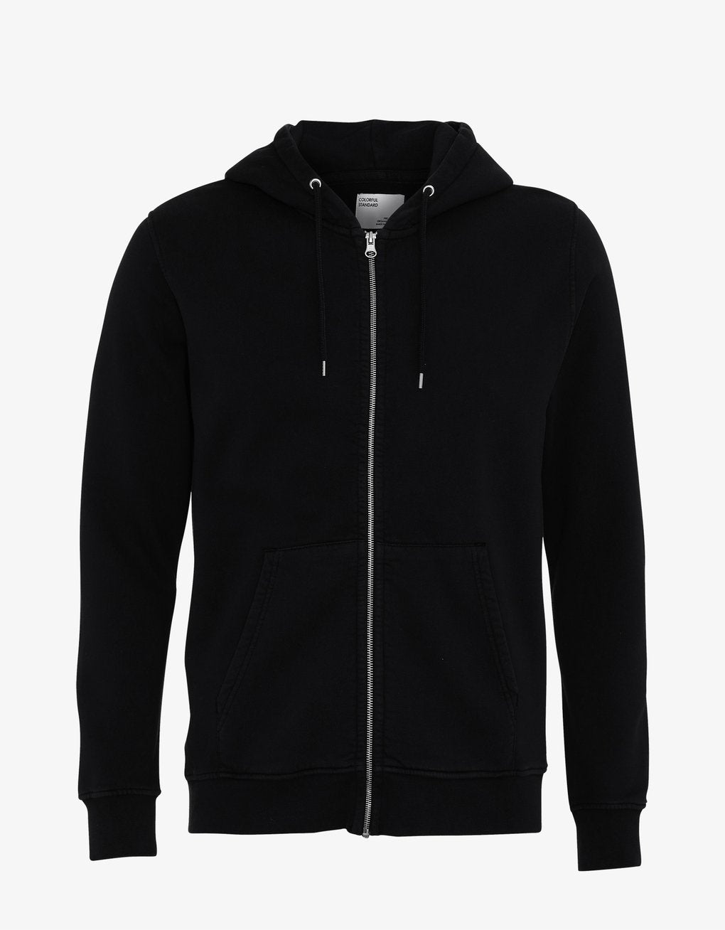 COLORFUL STANDARD | Organic Cotton Zip Hood | Deep Black - LONDØNWORKS