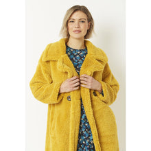 Load image into Gallery viewer, JAYLEY | Faux Long Sherling Teddy Coat FMCT295A-0Y | Yellow - LONDØNWORKS