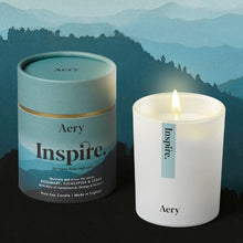Load image into Gallery viewer, AERY | Inspire Scented Candle | Rosemary Eucalyptus Cedar - LONDØNWORKS