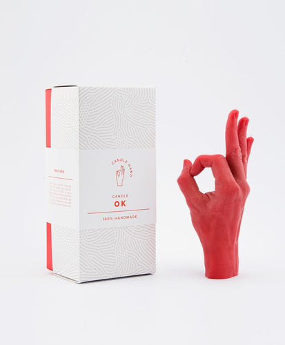 CANDLE HAND | OK | Red - LONDØNWORKS