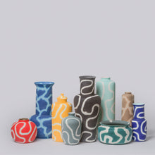 Load image into Gallery viewer, MIDDLE KINGDOM | Memphis Tall Lotus Vase | Light Blue - LONDØNWORKS