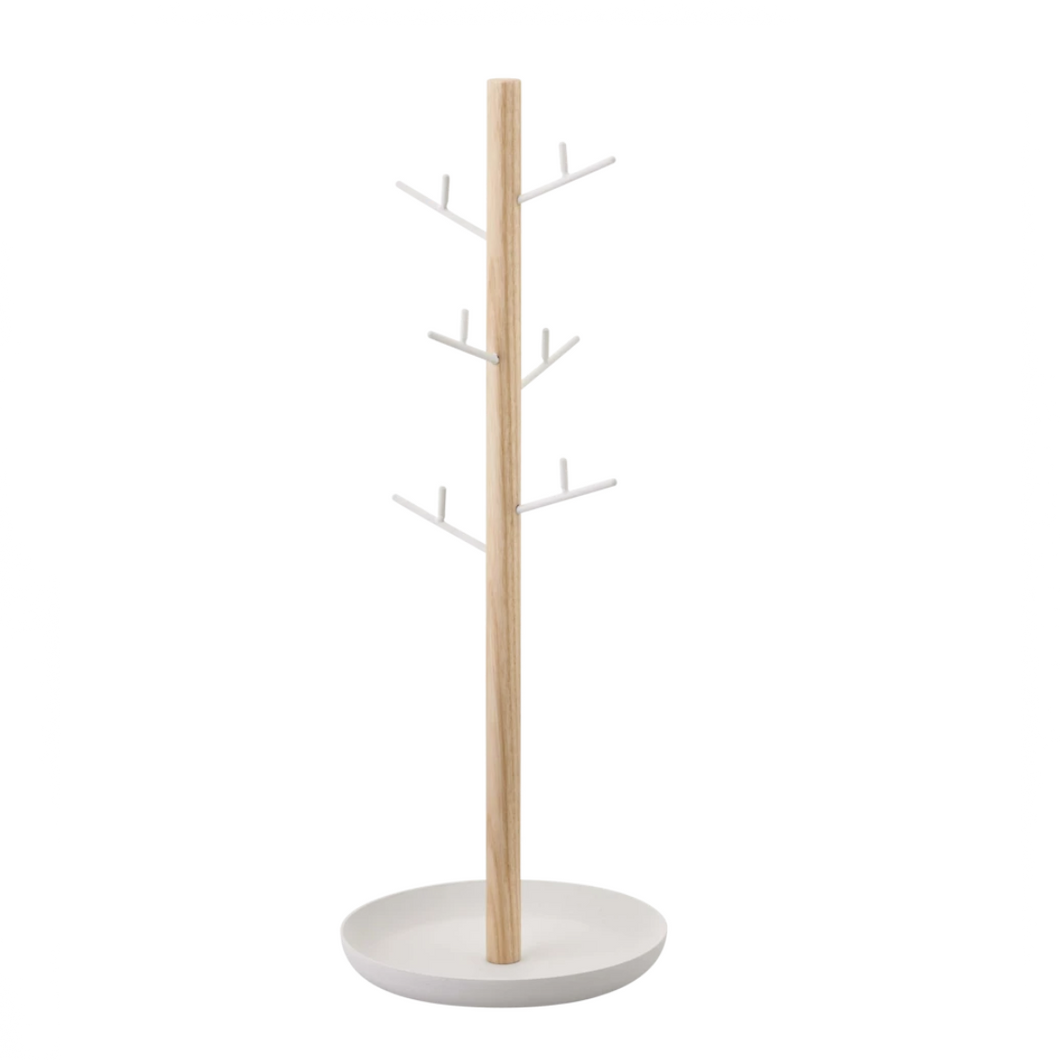 YAMAZAKI | Tosca Accessories Tree Display | White - LONDØNWORKS